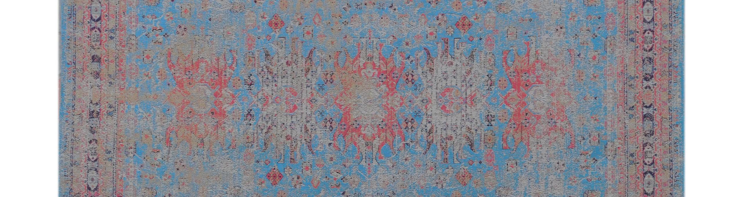 tapijt mooi blauw roze Indistrieel