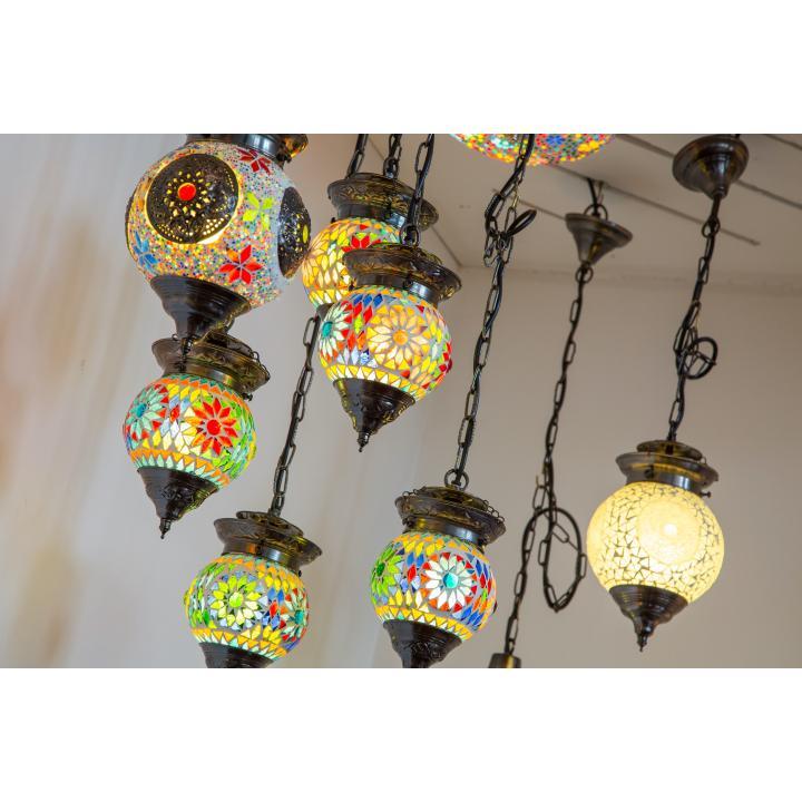 hanglampen glas mozaïek