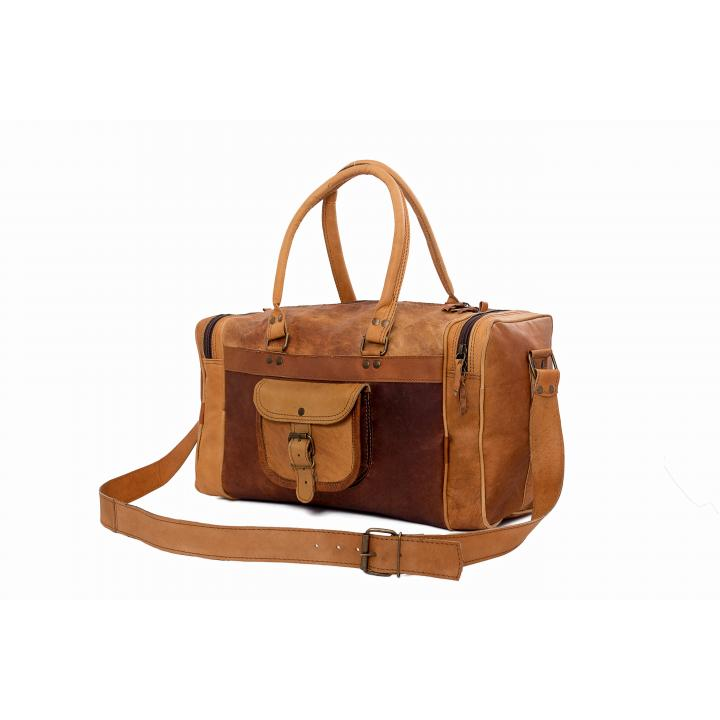 Leather bag long and short sleeve bagging you label Indistrieel € 95,--