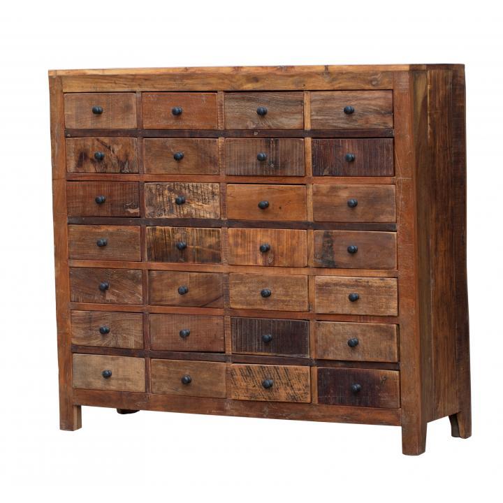 28 laadjes kast Indistrieel Middelburg cabinet woonkamer keuken kantoor 28 drawer reclaimed wood