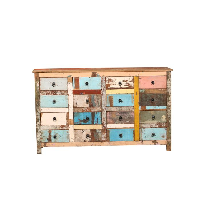 16 drawer cabinet scrapwood laadjes