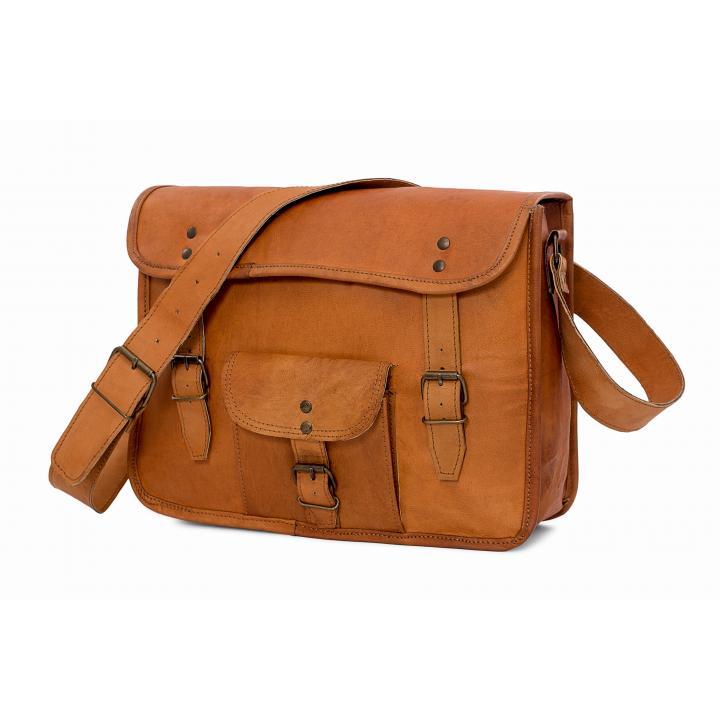 Leather bag long sleeve, bagging you nr. 3 label Indistrieel € 85,--