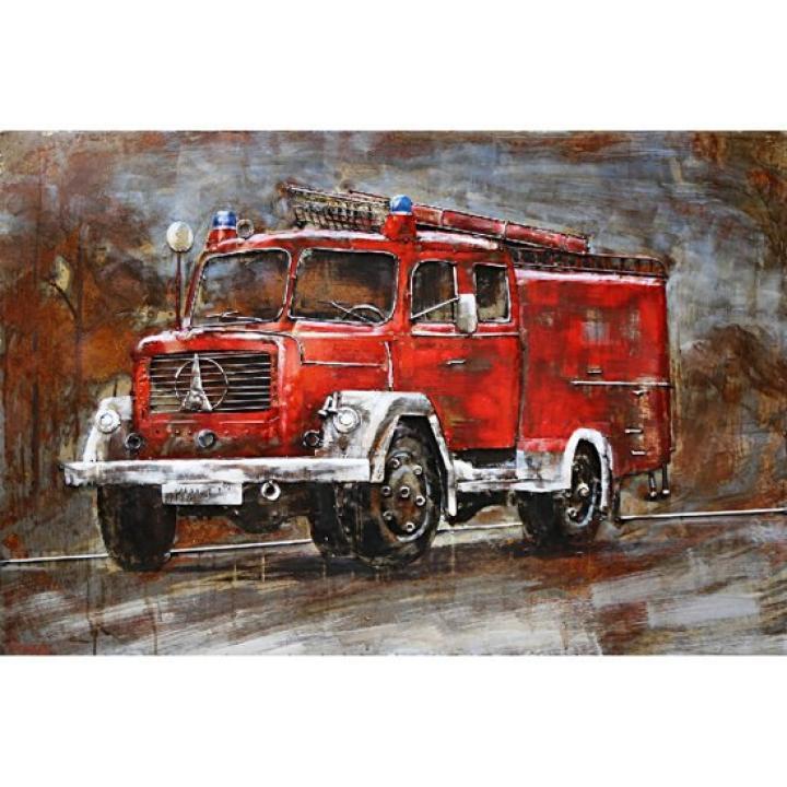 3d metaal schilderij brandweerauto rood auto werk je bij de brandweer brandweerkazerne stoer voor aan de muur kopen in Middelburg bij Indistrieel winkel in Middelburg.jpg