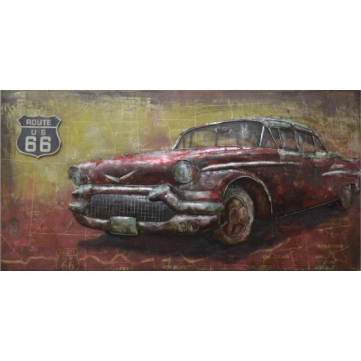 3d metaal schilderij chevrolet rood amerikaanse auto 3d art stoer voor aan de muur kopen in Middelburg bij Indistrieel winkel in Middelburg.jpg