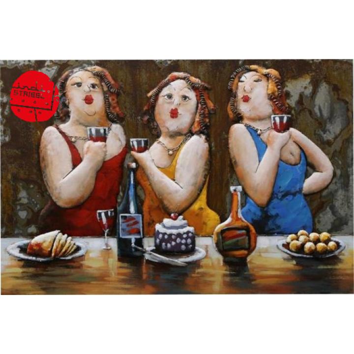 3d metaal schilderij dikke dames verjaardag feestje thuis 3d art  Indistrieel winkel in Middelburg