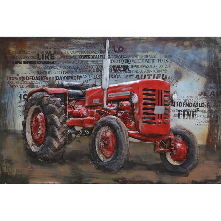 3d metaal schilderij tractor rood landbouw boerderij  stoer voor aan de muur kopen in Middelburg bij Indistrieel winkel in Middelburg.png