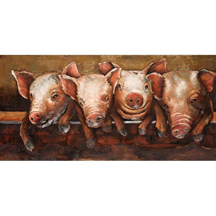 3d-metaal-schilderij-de-4-biggetjes-3d-metaal-schilderij-de-4-biggetjes te koop bij Indistrieel in Middelburg goedkope deal.jpg