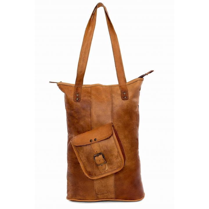 Leather bag long bagging you nr. 1 label Indistrieel € 85,--