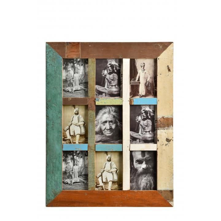 fotolijst scrapwood 9 vakken