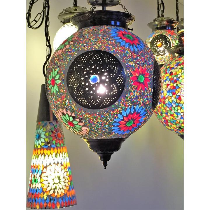 hanging lamp iron and mosaïc