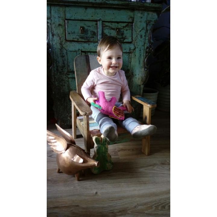 kinderstoel, lounge, scrapwood,sloophout