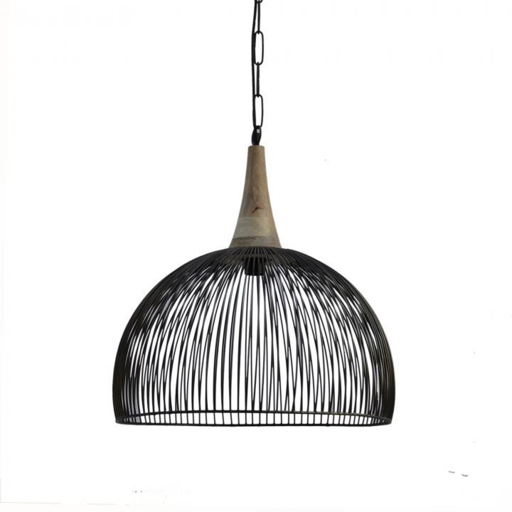Zwarte open metalen hanglampen chique industrieel wonen in Middelburg