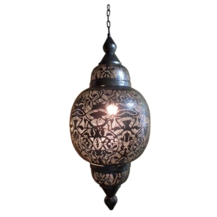 Orientaalse lamp Arabica filigrain zilverkleur made in India.jpg