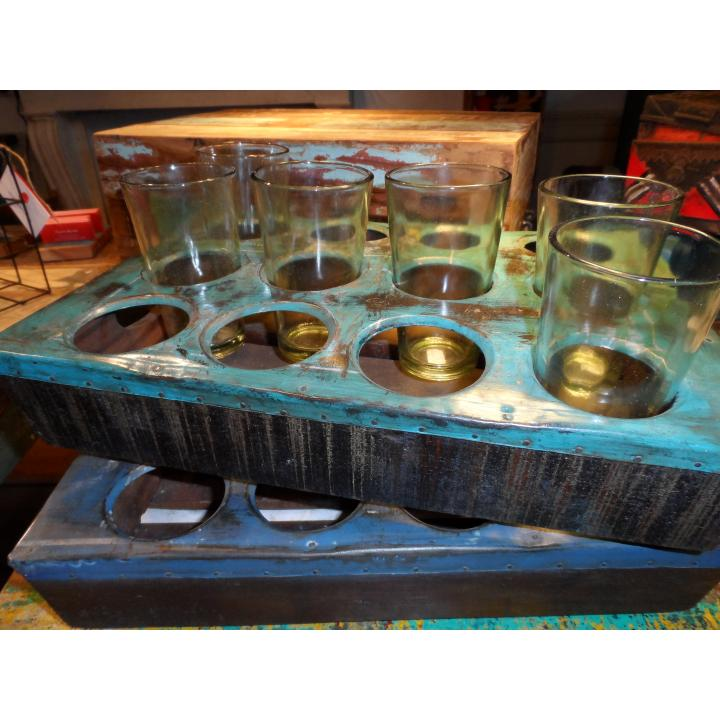 scrapmetal tray 12 glasses