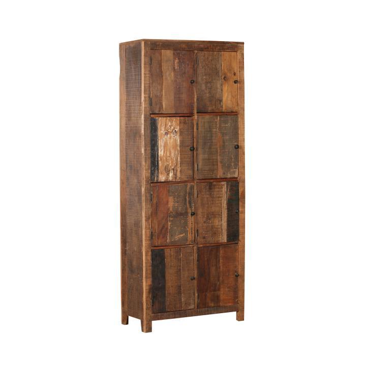 cabinet recycled wood 8 door high