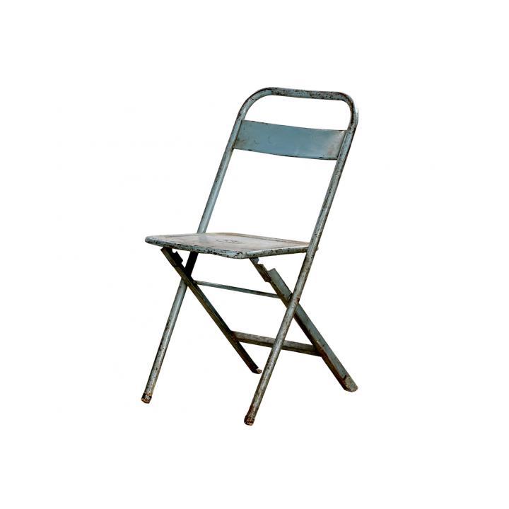 inklapbare bistro stoel blauw