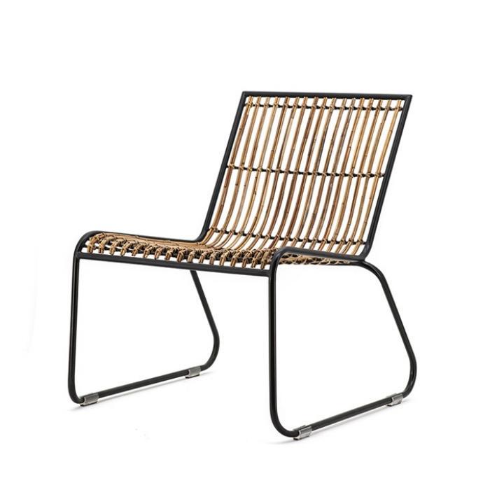 lounge chair kasuaris hout en metaal bij Indistrieel middelburg