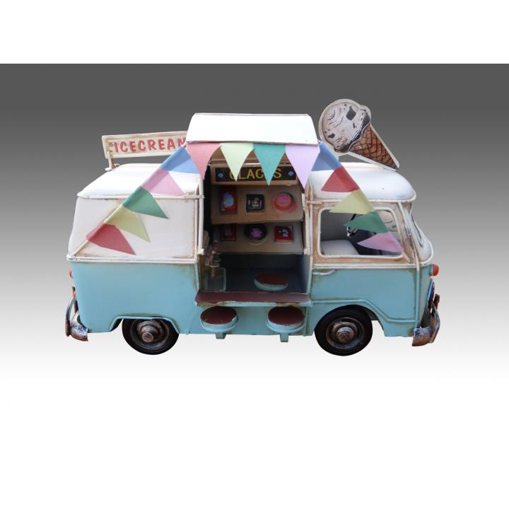 modelauto van icecream blue white