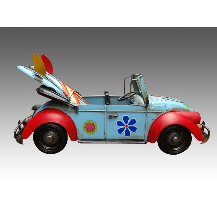 modelauto-kever-beatle open blue hippie