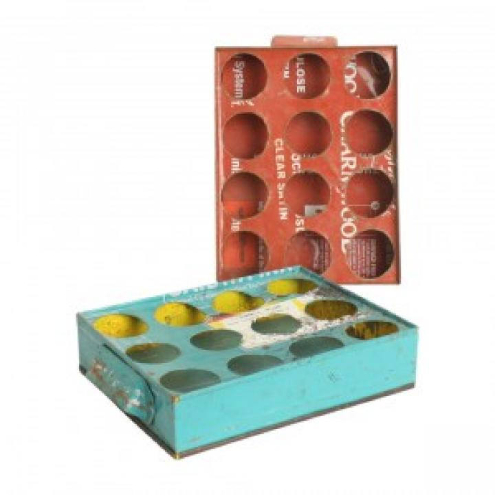 scrapmetal tray 12 glasses