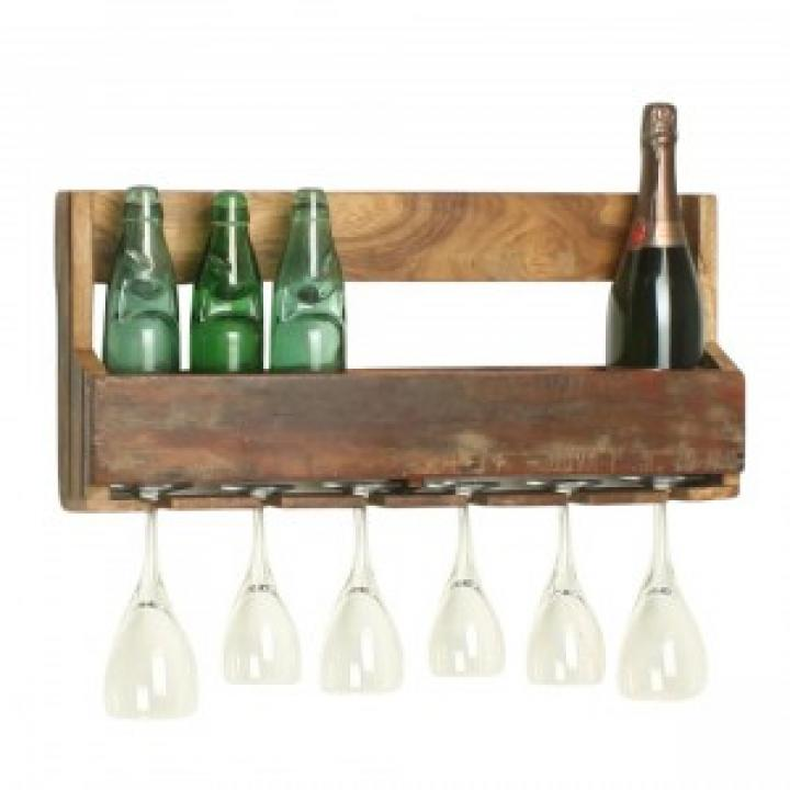wine rack brown