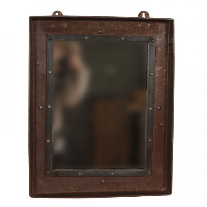 rectangle iron mirror spiegel metaal