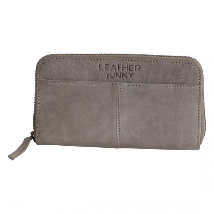 Leather junky portemonnee grijs