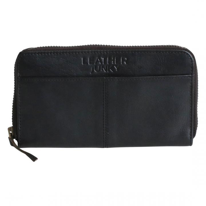 the leather junky portemonnee zwart