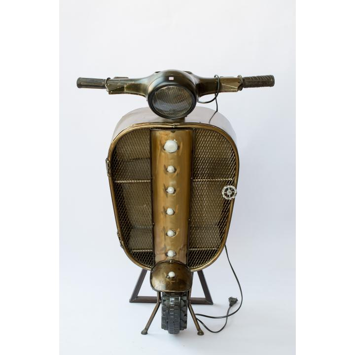 unieke kast van originele scooter inclusief lamp