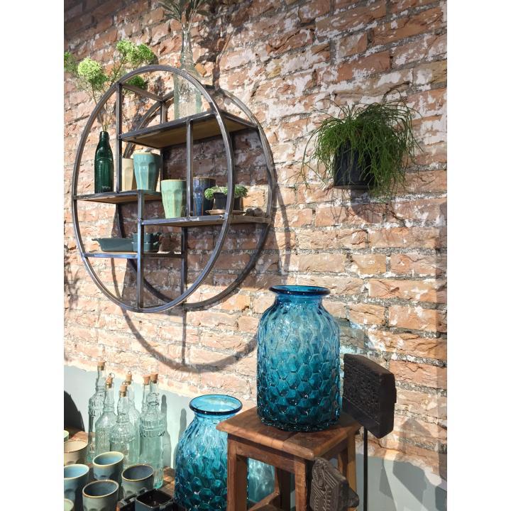 wall rack Indistrieel round metal stoer wandrek rond metaal shoppen in Middelburg.jpg